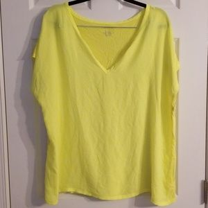 Lane Bryant bright yellow tshirt 18/20
